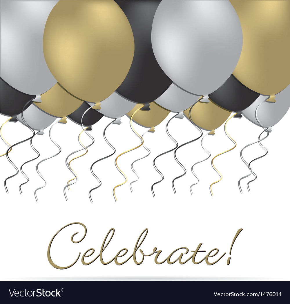 Celebrate with balloons vector