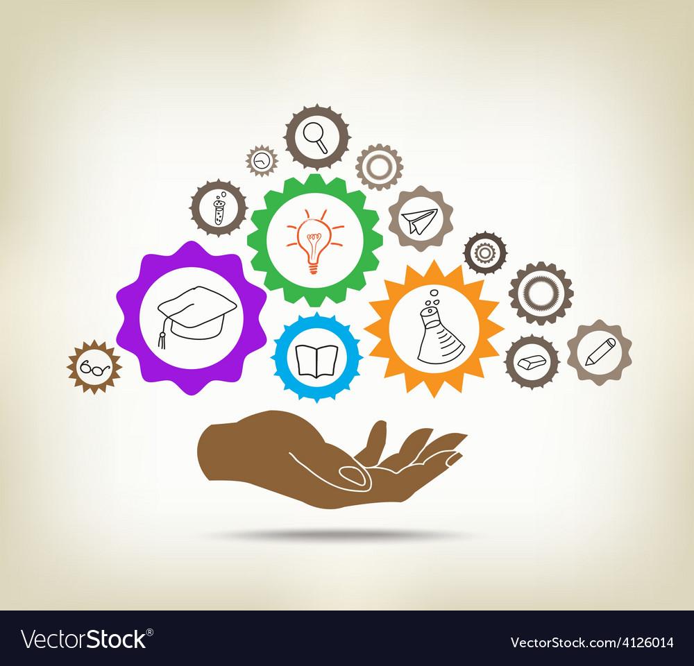 Education mechanism concept vector