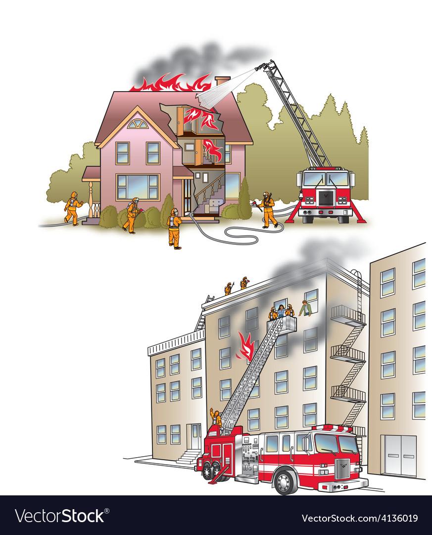 911 rescue scenarios vector