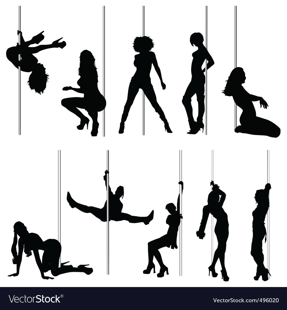 Sexy women and striptease vector