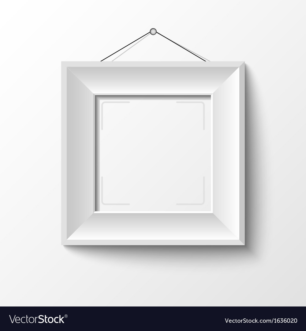 White frame vector