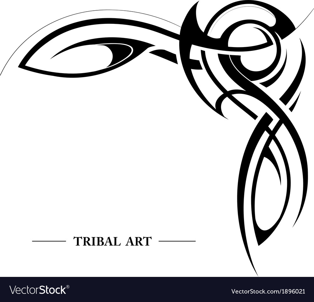 Abstract tribal background vector