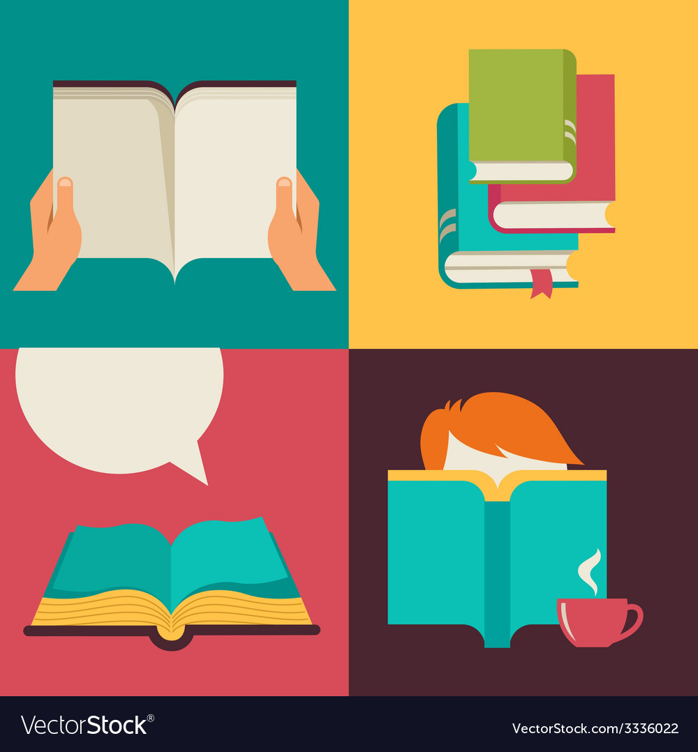 Book and reading concept design vector