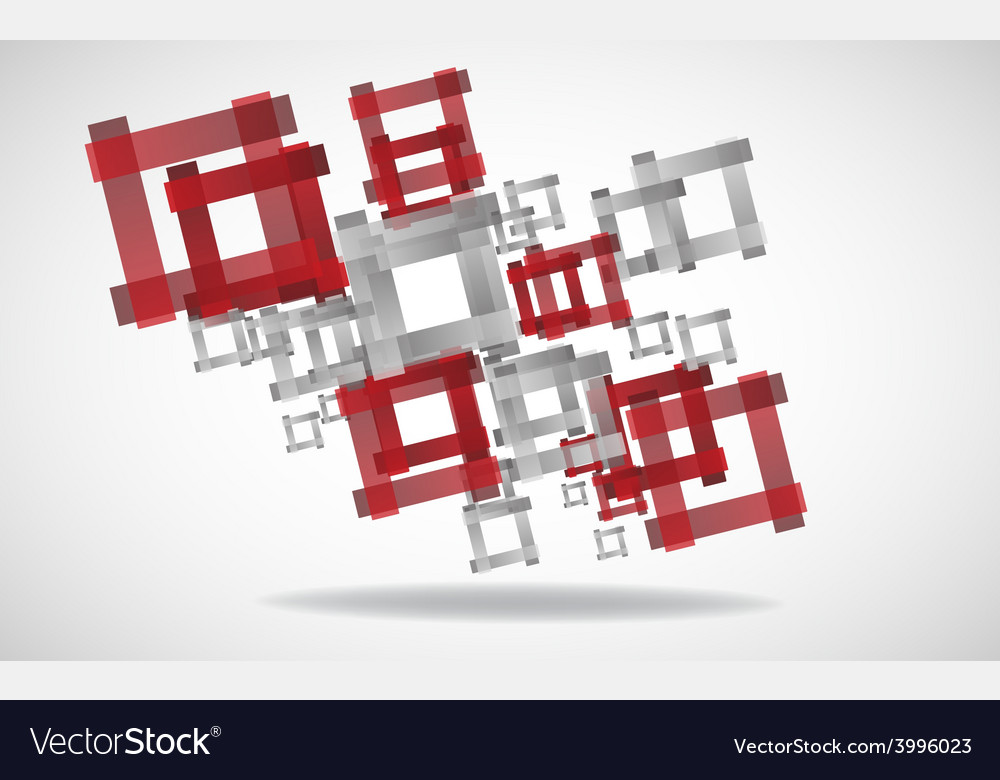 Abstract square background clip-art vector