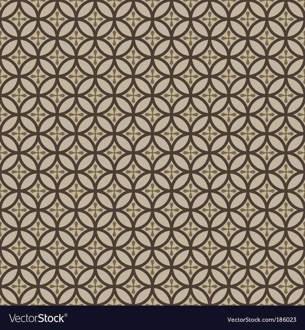 Seamless circles pattern vector