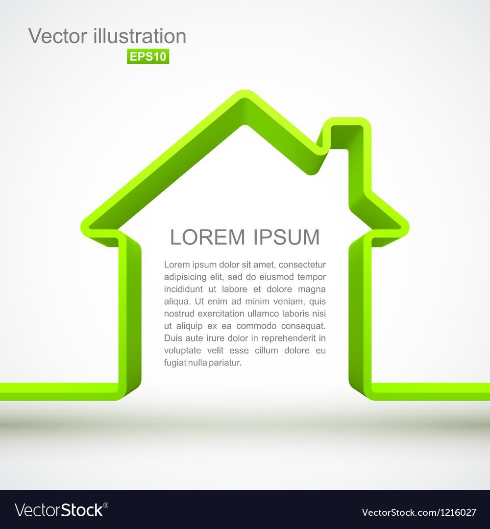 Green house outline vector
