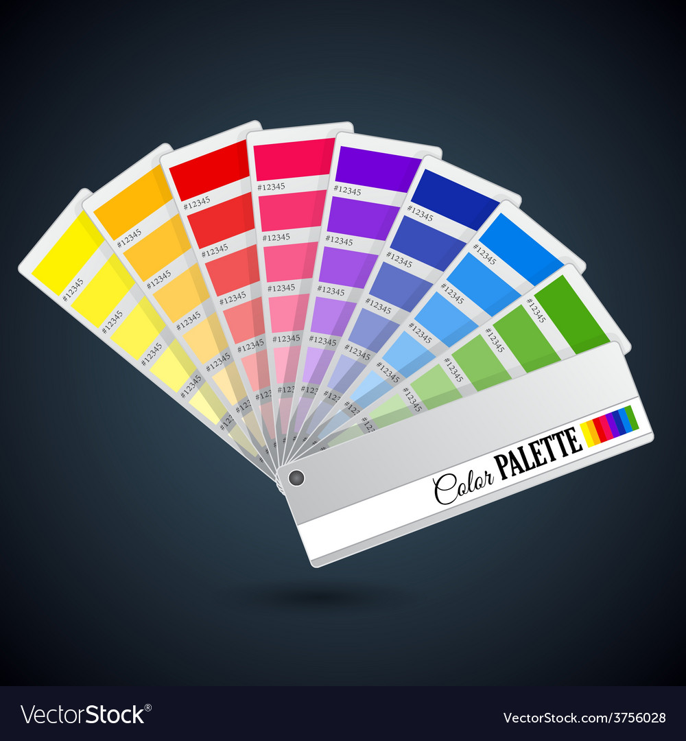 Color palette guide catalogue cards vector
