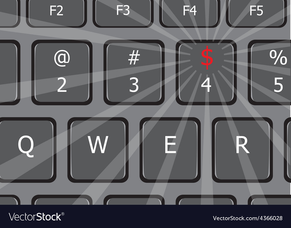 That is money laptop keyboard us vector