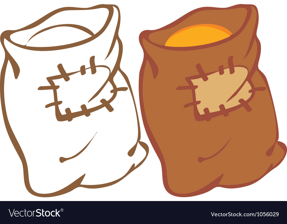 Sack of grain vector