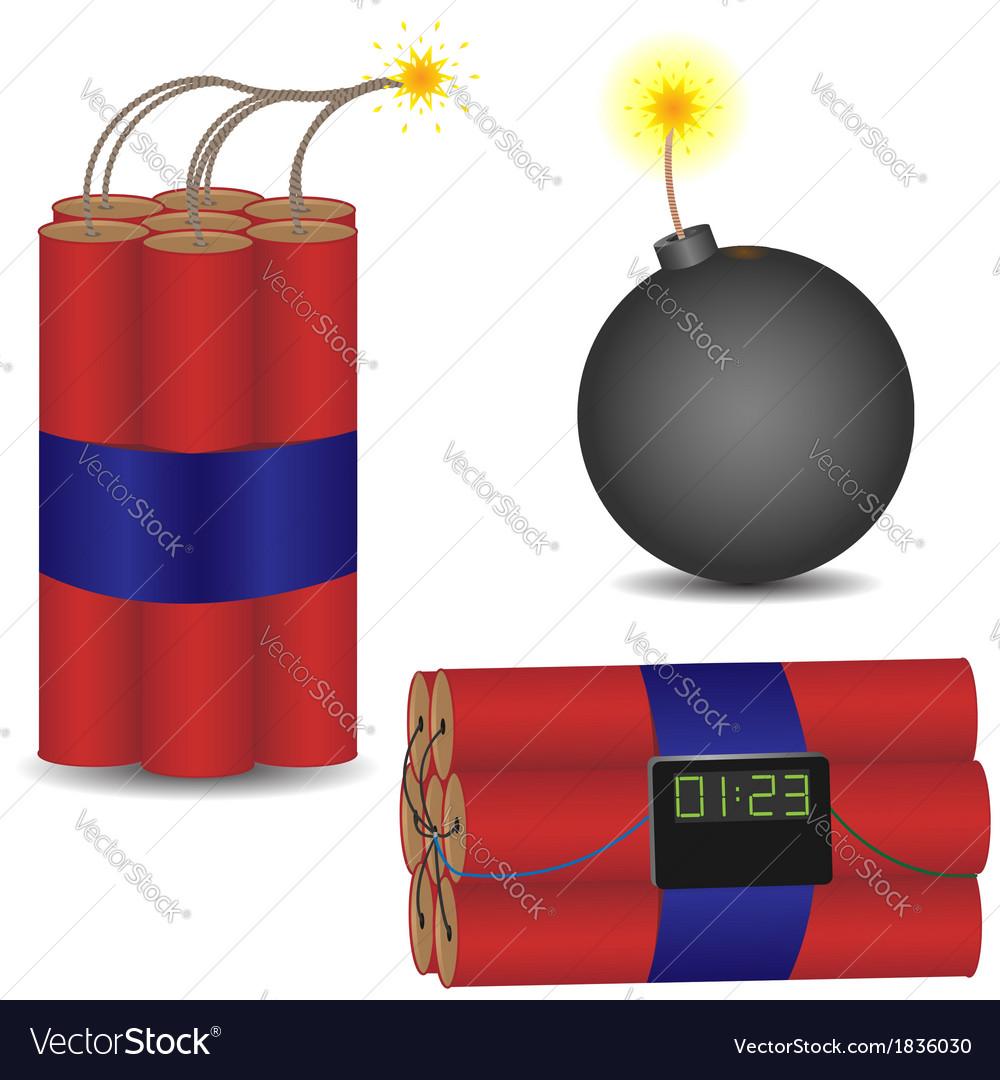 Pyrotechnic set vector