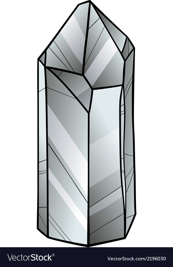 Quartz or crystal cartoon vector