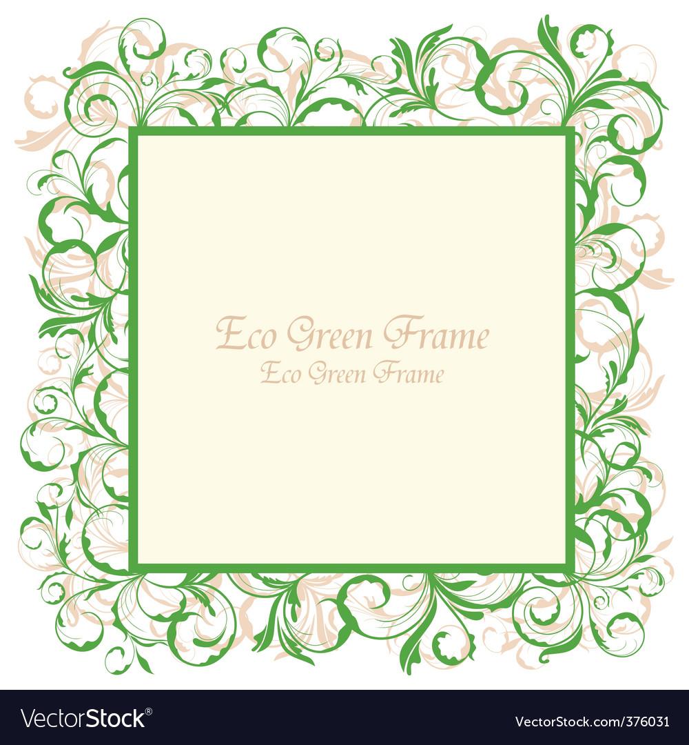 Eco green frame vector