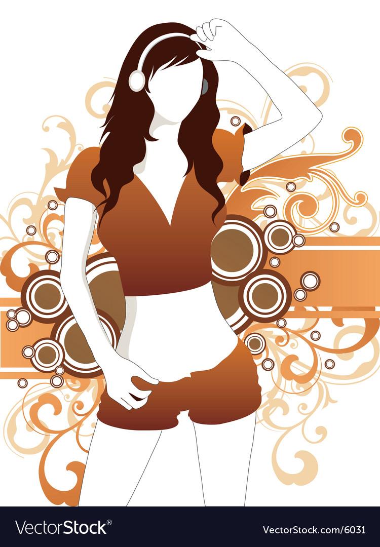Sexy sporty girl vector