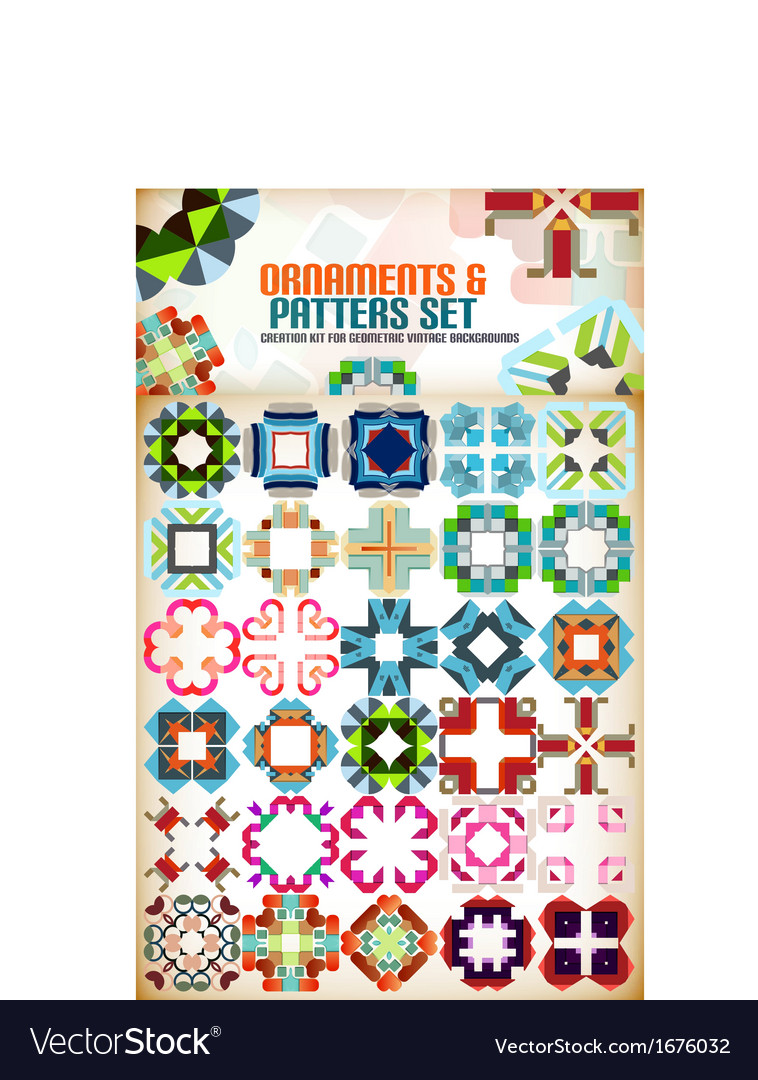 Abstract geometric vintage retro shapes vector