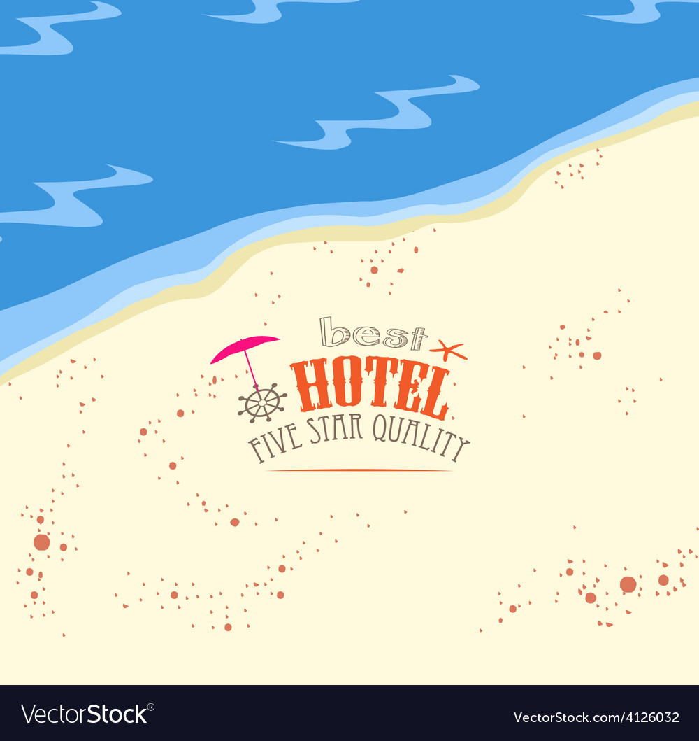 Best hotel five star quality vector