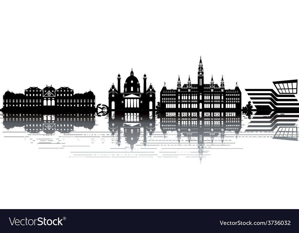 Vienna skyline vector