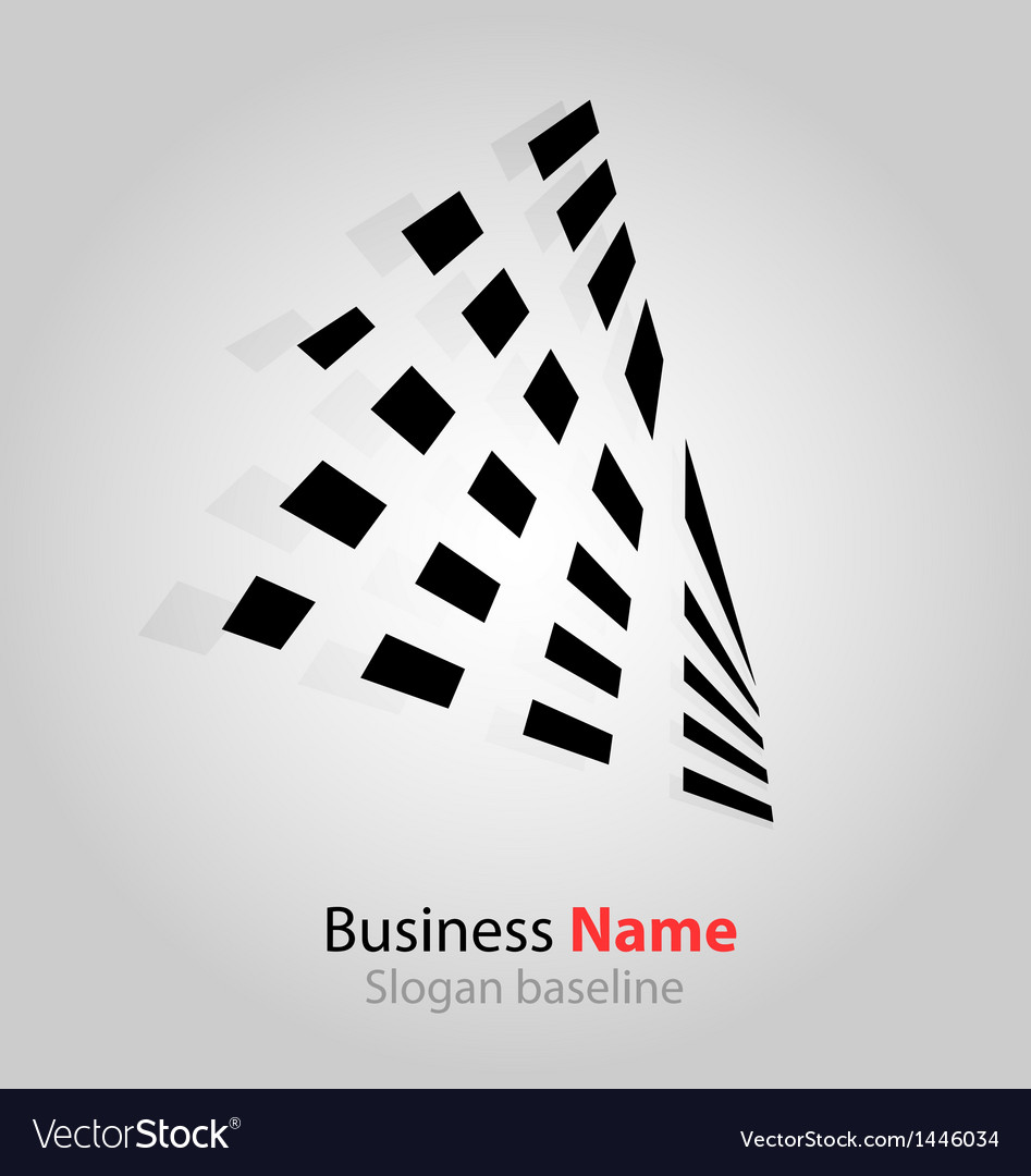 Abstract business icon vector