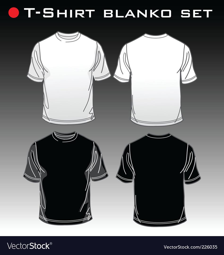 Set t-shirt blank vector