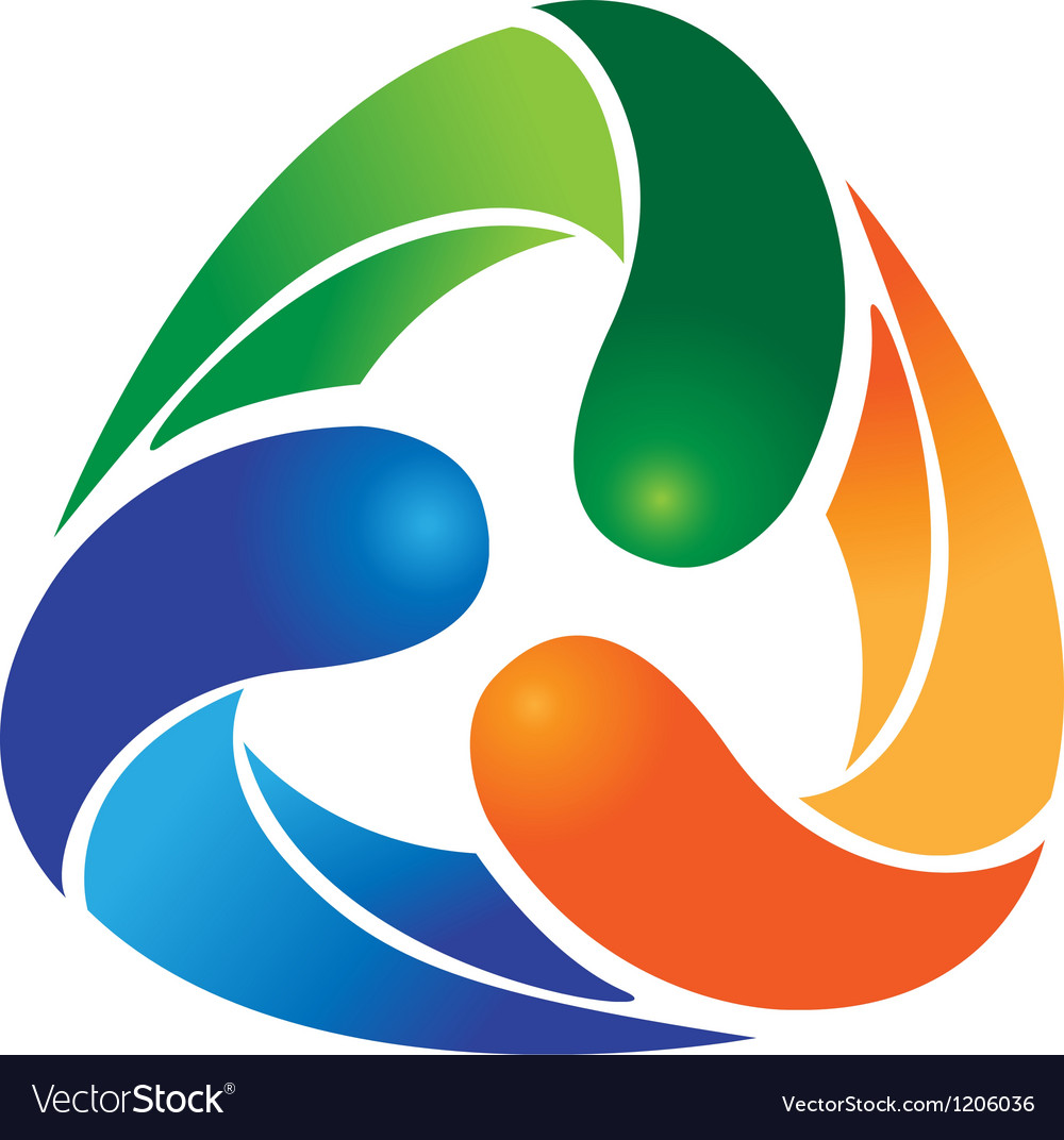 Ecological recycle logo vector