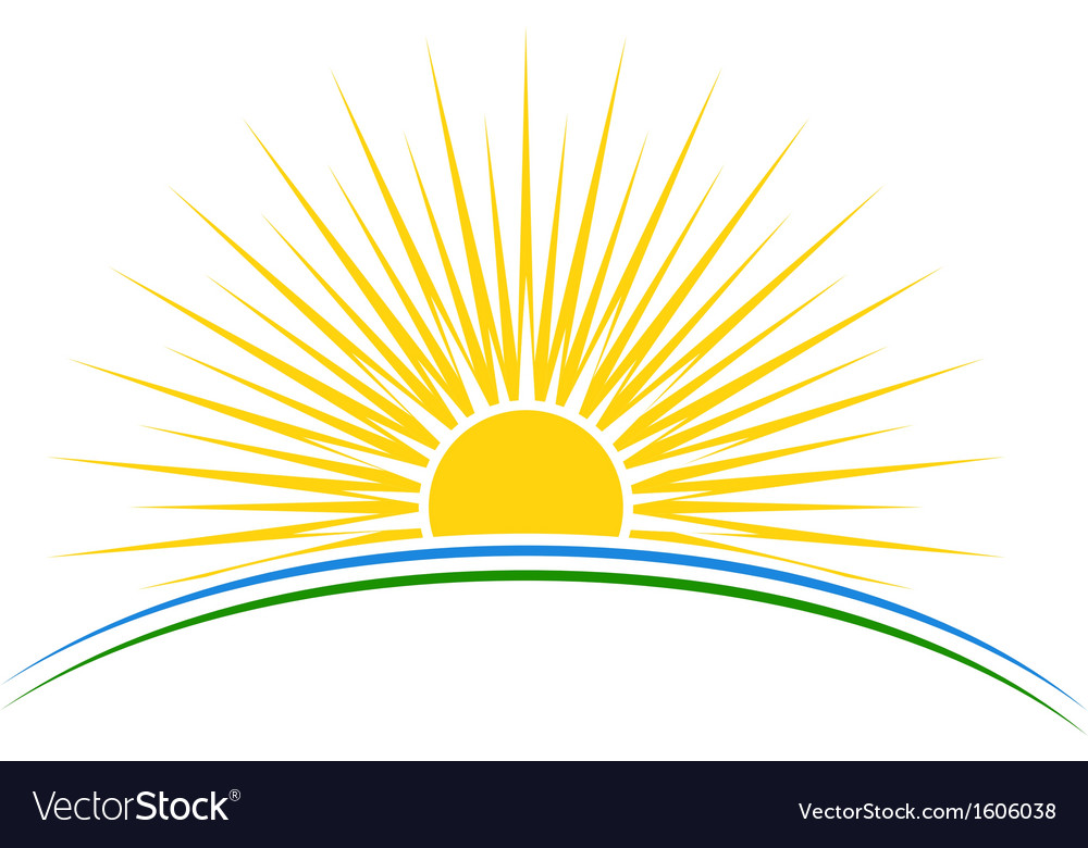 Sunset vector