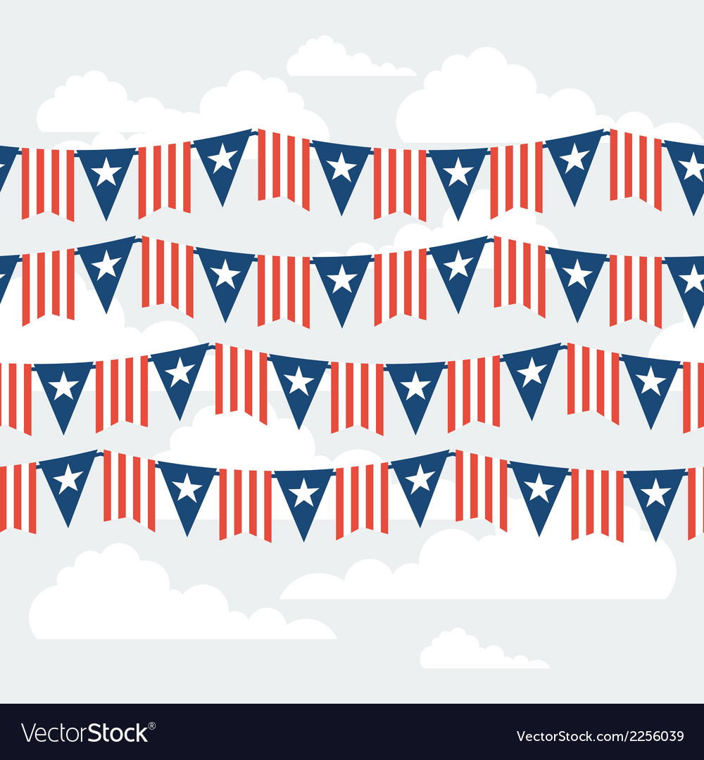 United states of america independence day seamless vector