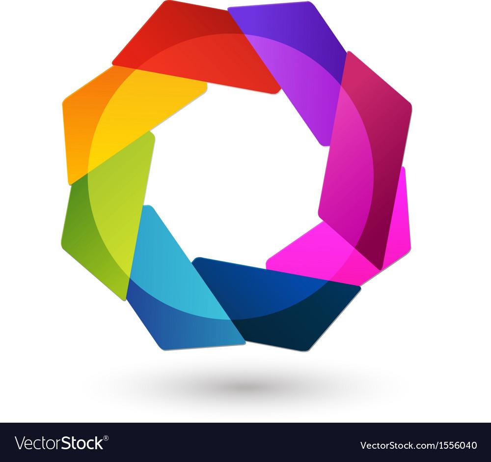 Abstract logo shape vector