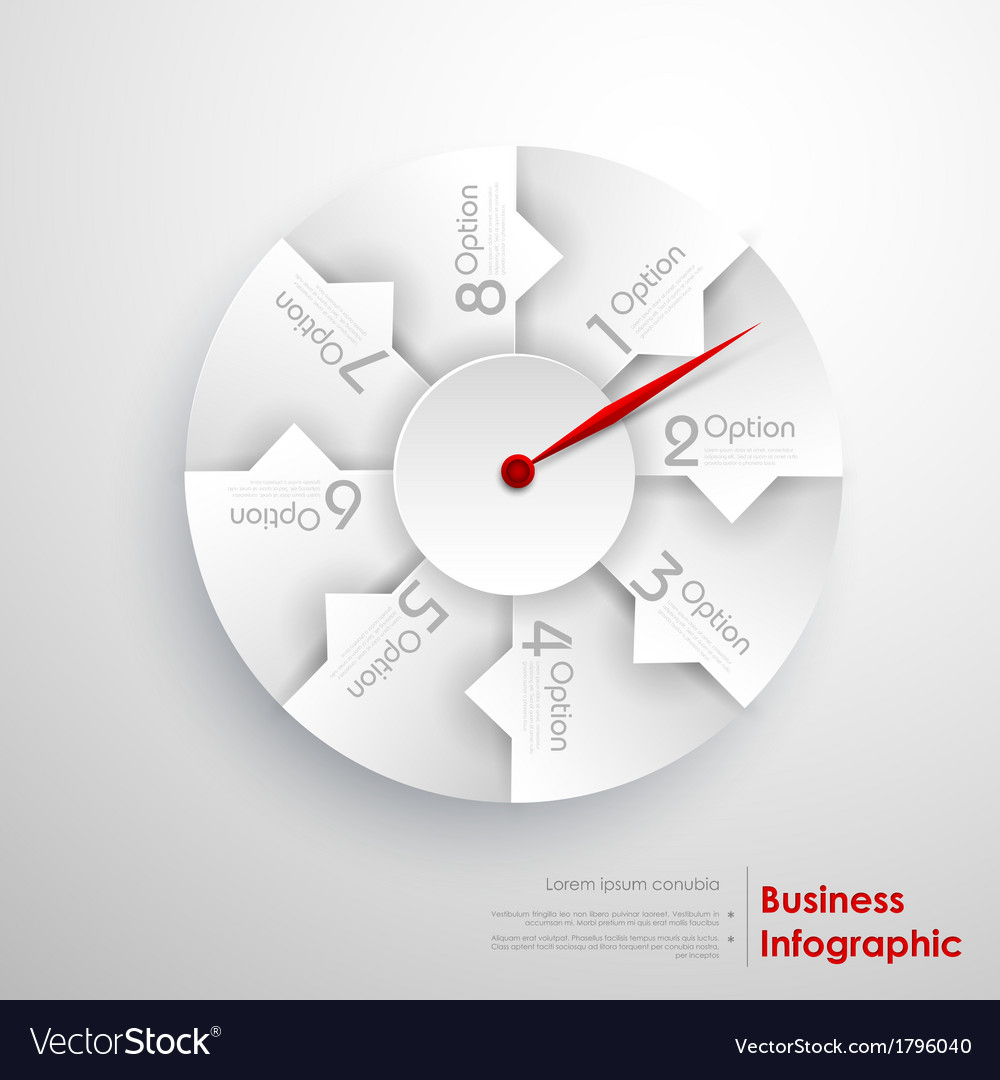 Infographic pointer vector