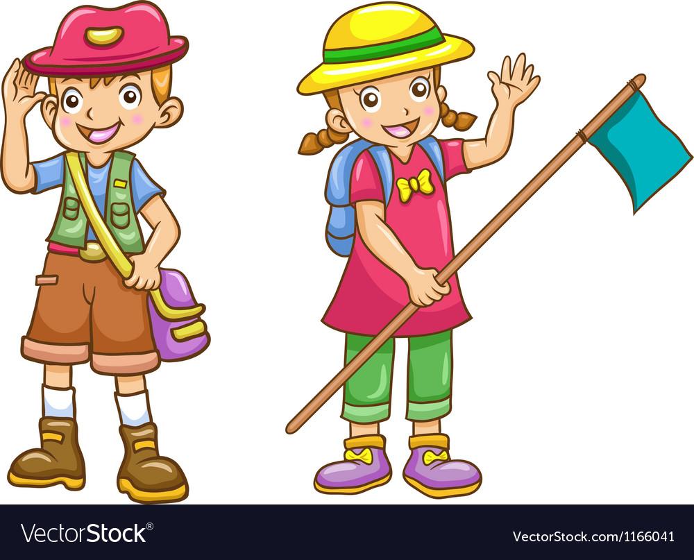 Boy girl scout vector