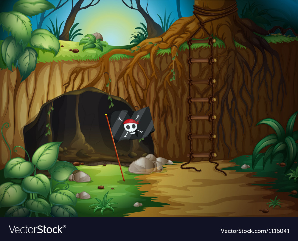 Pirate cave vector