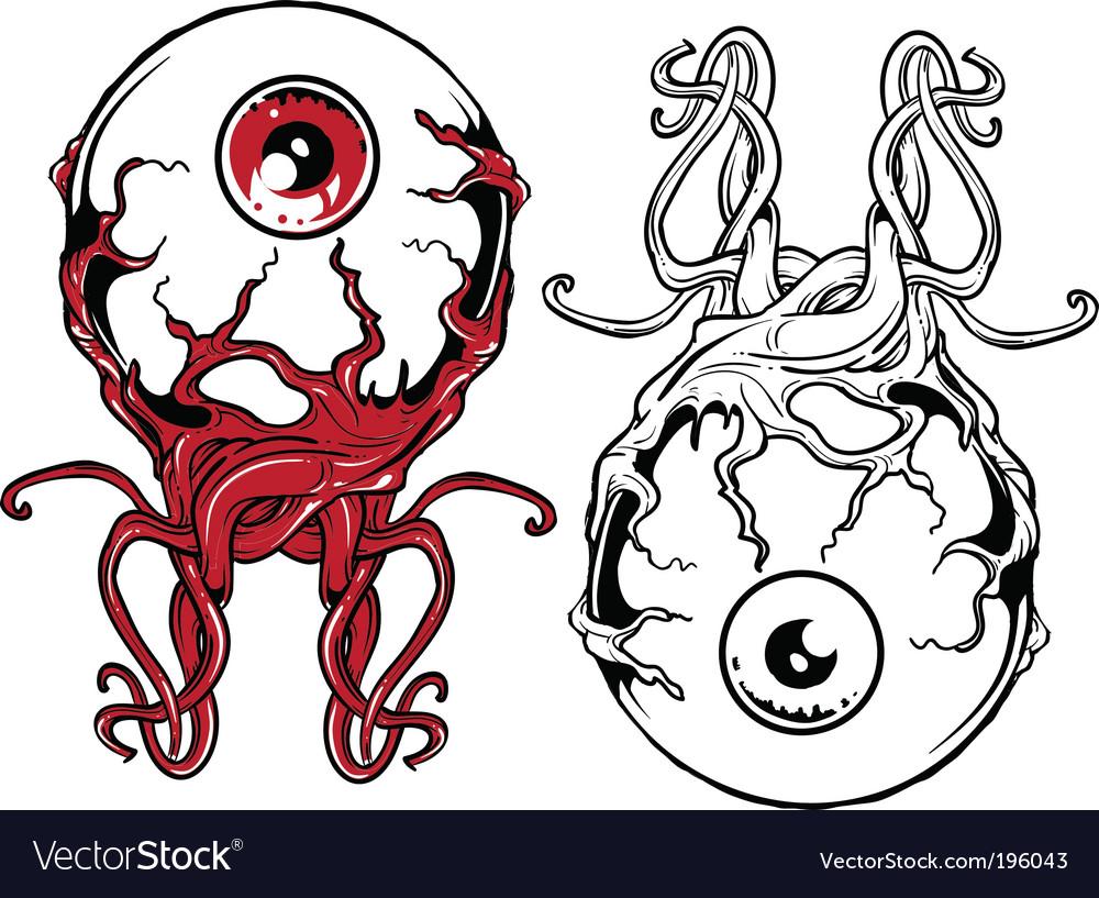 Punk eyeball vector
