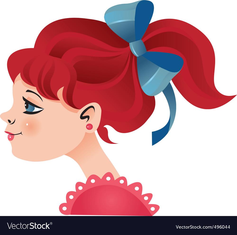Joy girl vector