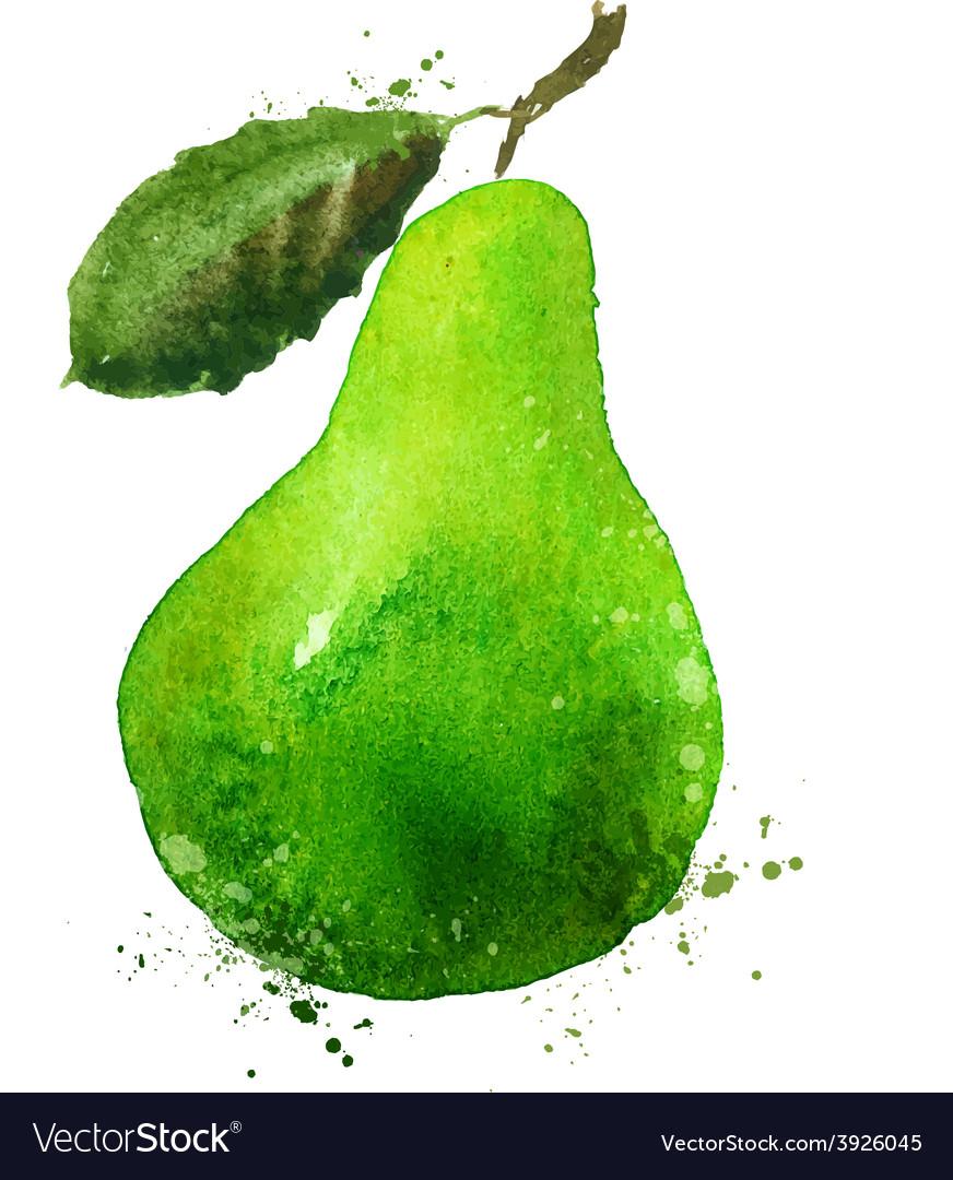 Pear logo design template food or fruit vector
