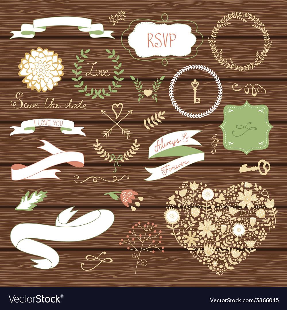 Wedding collection vector