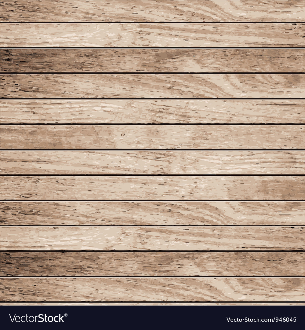 Wood plank texture background vector
