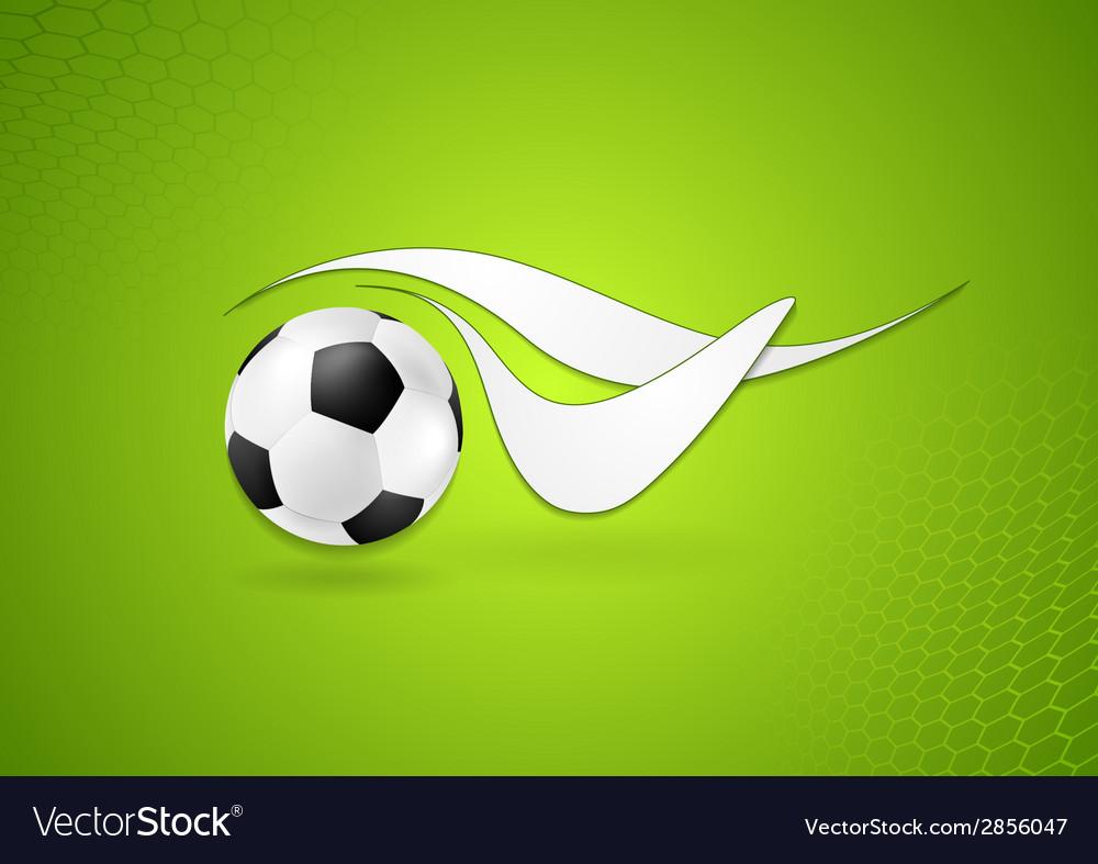 Bright soccer logo design vector
