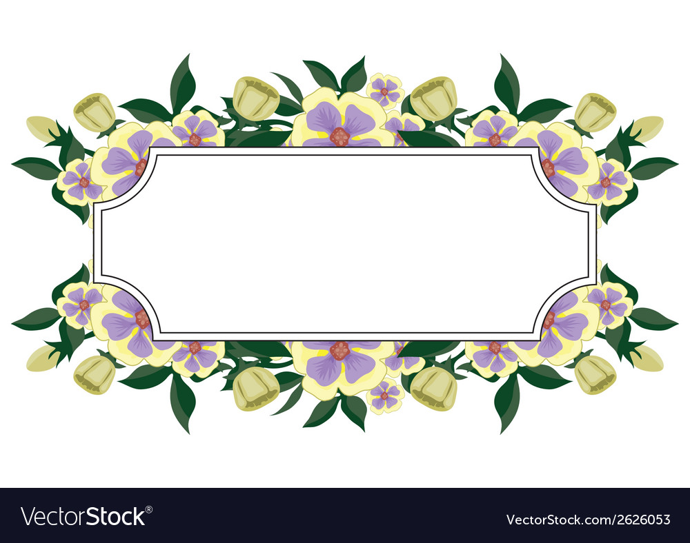 Label with beautiful flowers vector