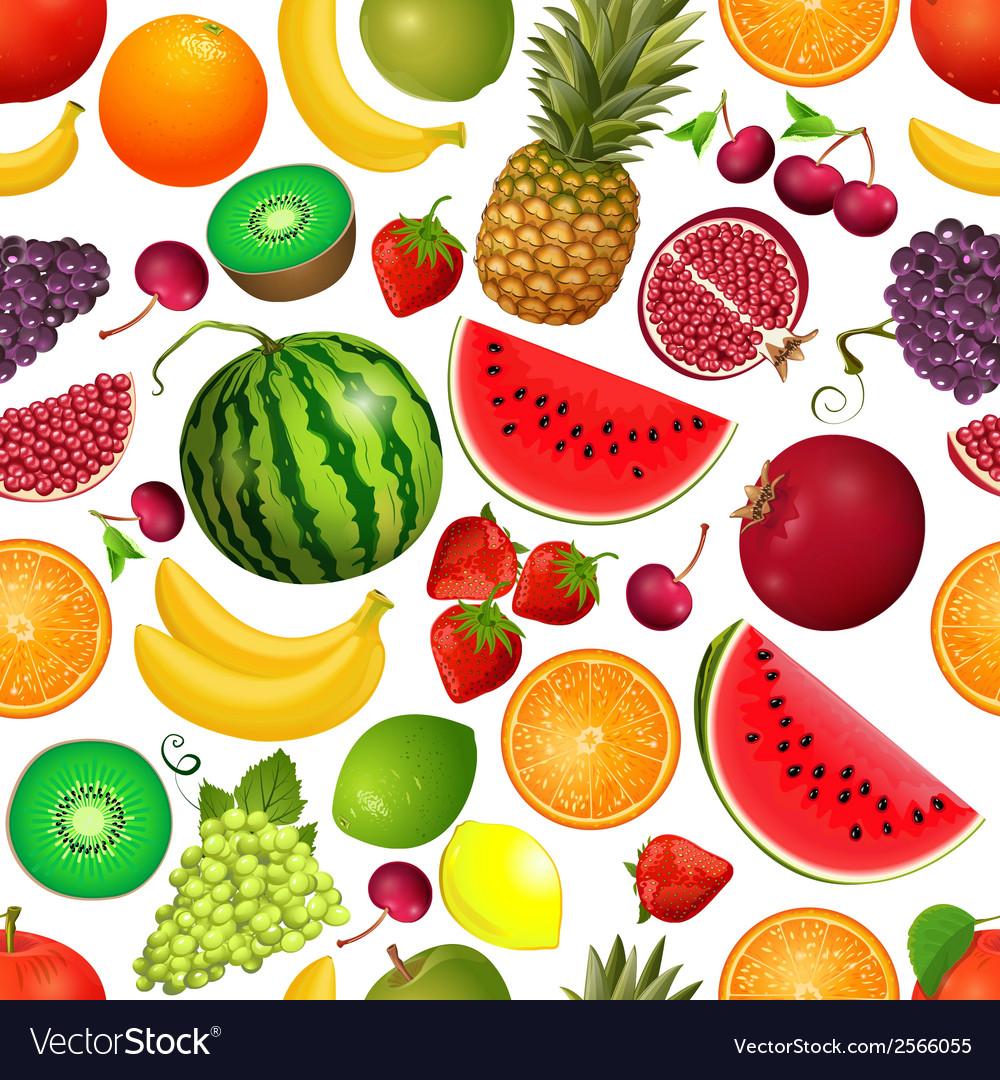 Seamless texture of fruit vector
