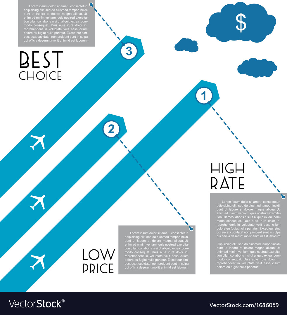 Flight infographic vector