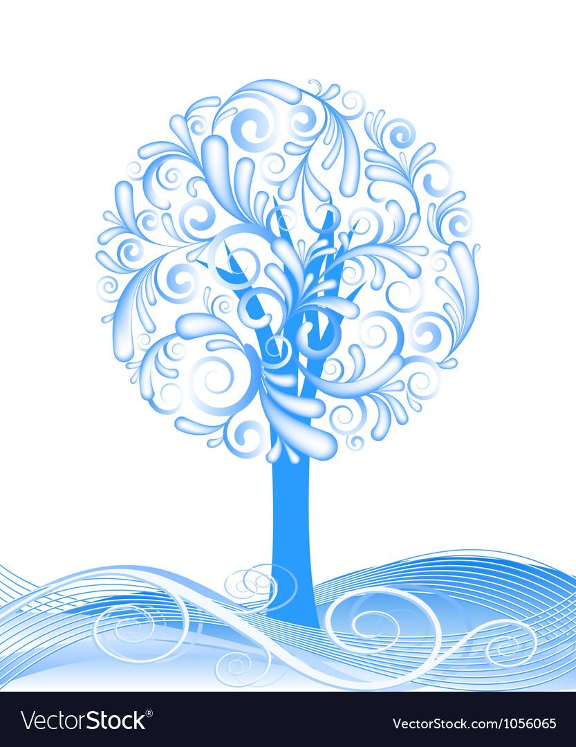 Beautiful winter tree design vector