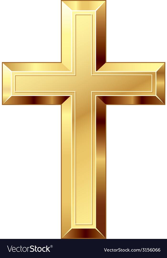 Gold cross vector