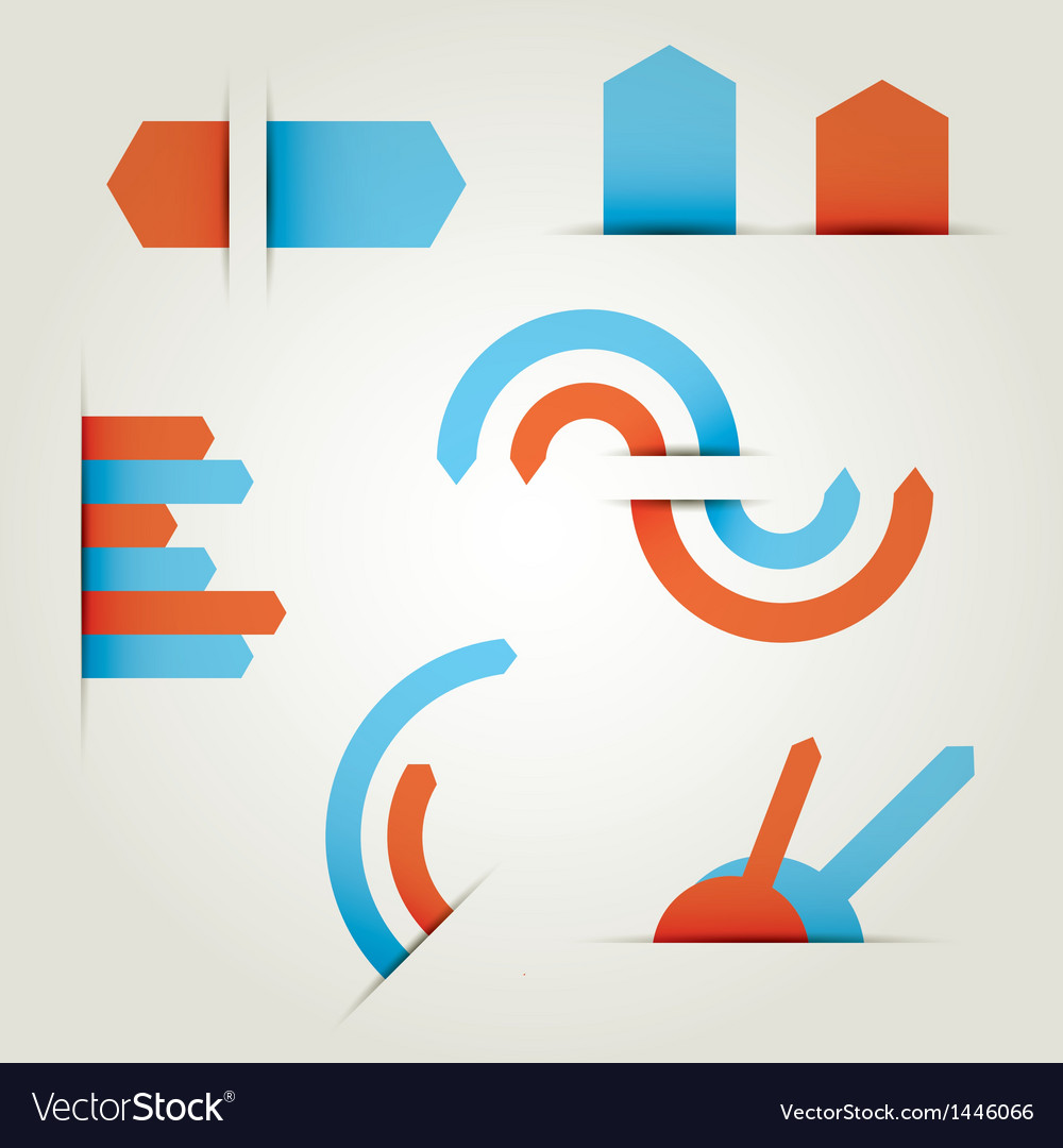 Infographics set information graphics vector
