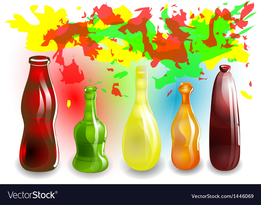 Funny colored drinks vector