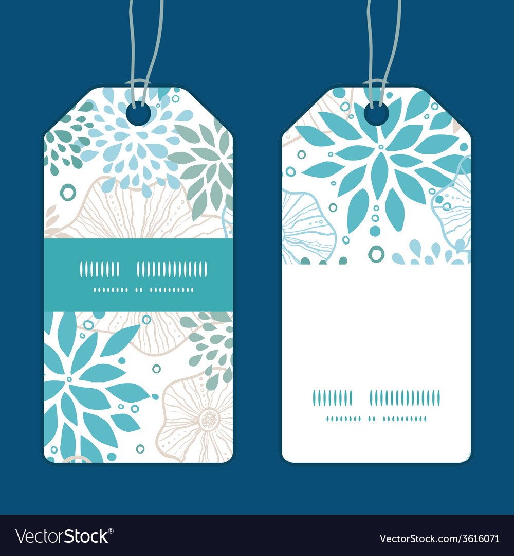 Blue and gray plants vertical stripe frame pattern vector