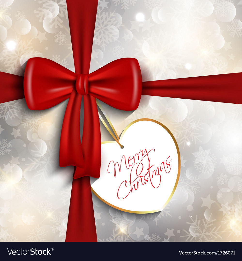 Christmas gift background vector