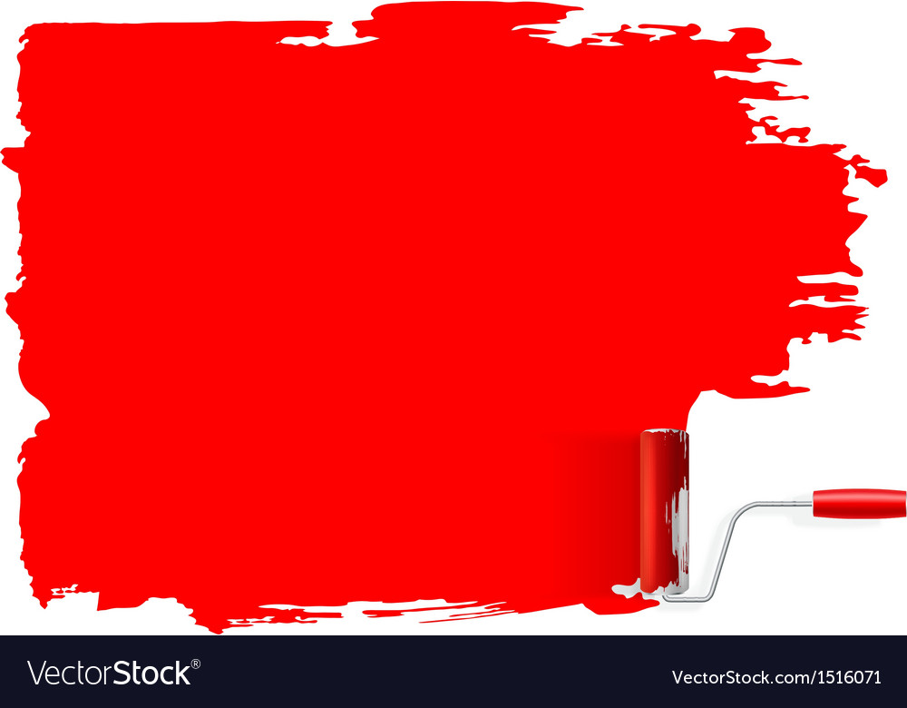 Paint roller concept background vector