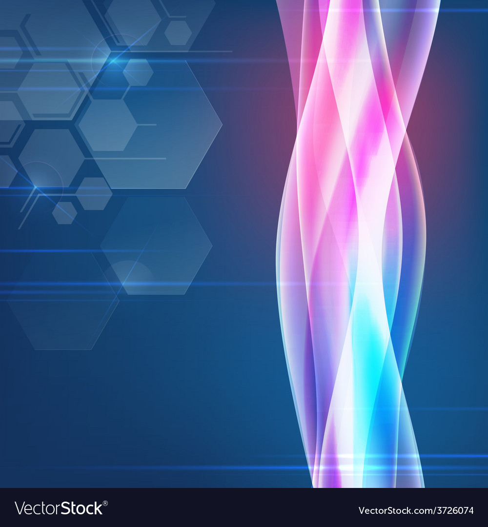 Futuristic backdrop ornament with copy space vector
