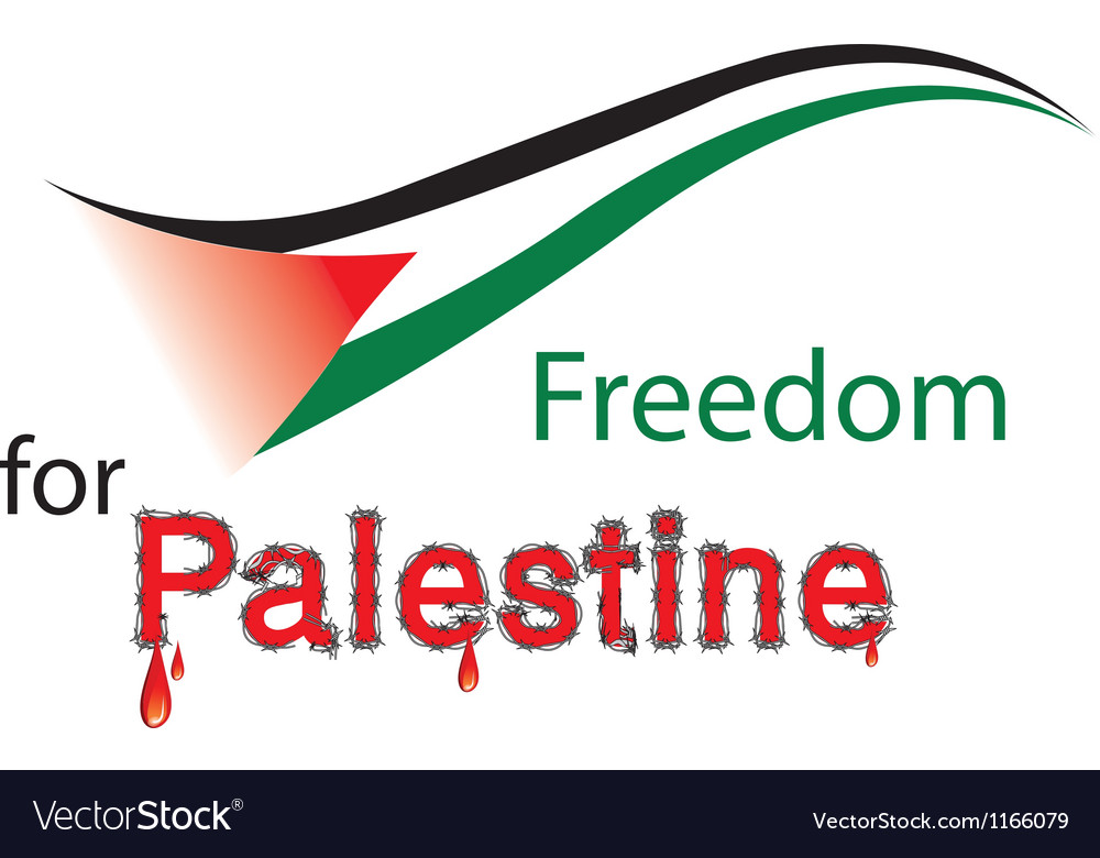 Freedom for palestine vector