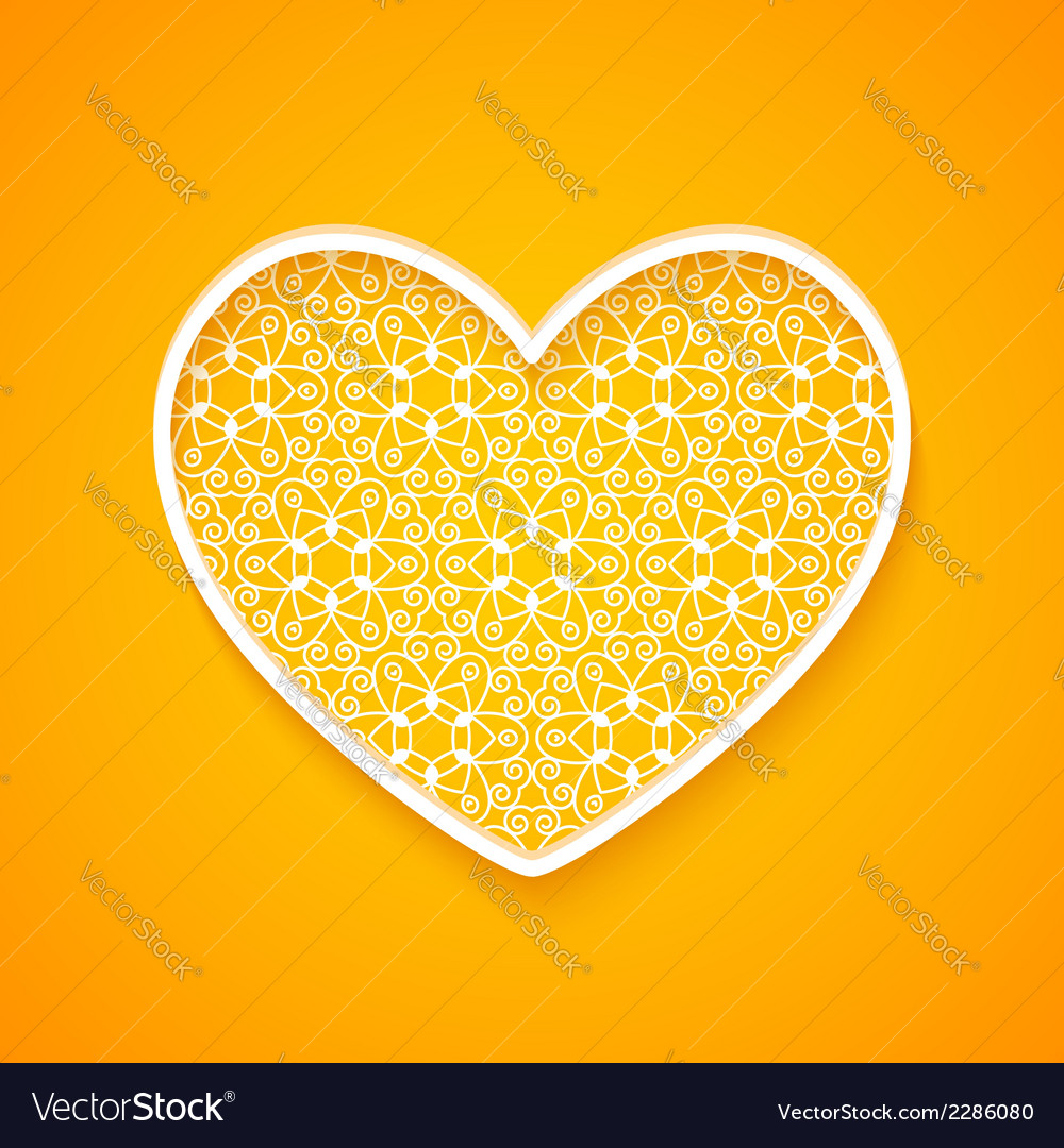 Abstract heart silhouette vector