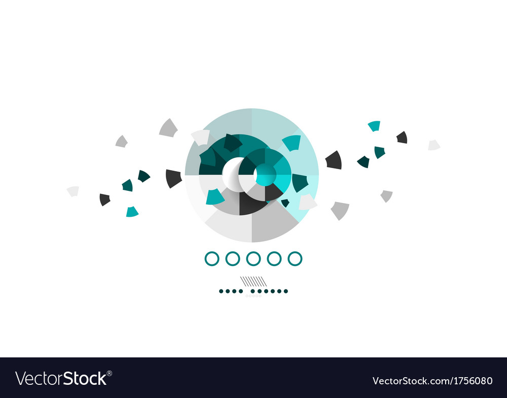 Business circles geometric shape abstract vector
