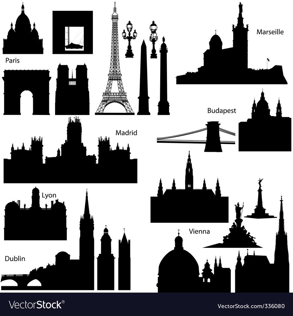 European monuments vector